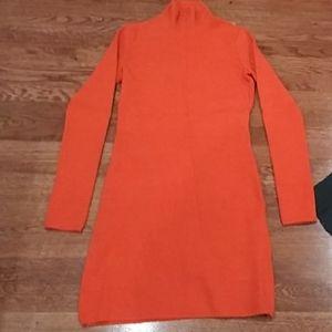 Versus orange fitted dress